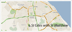 St Giles with St Matthew Map